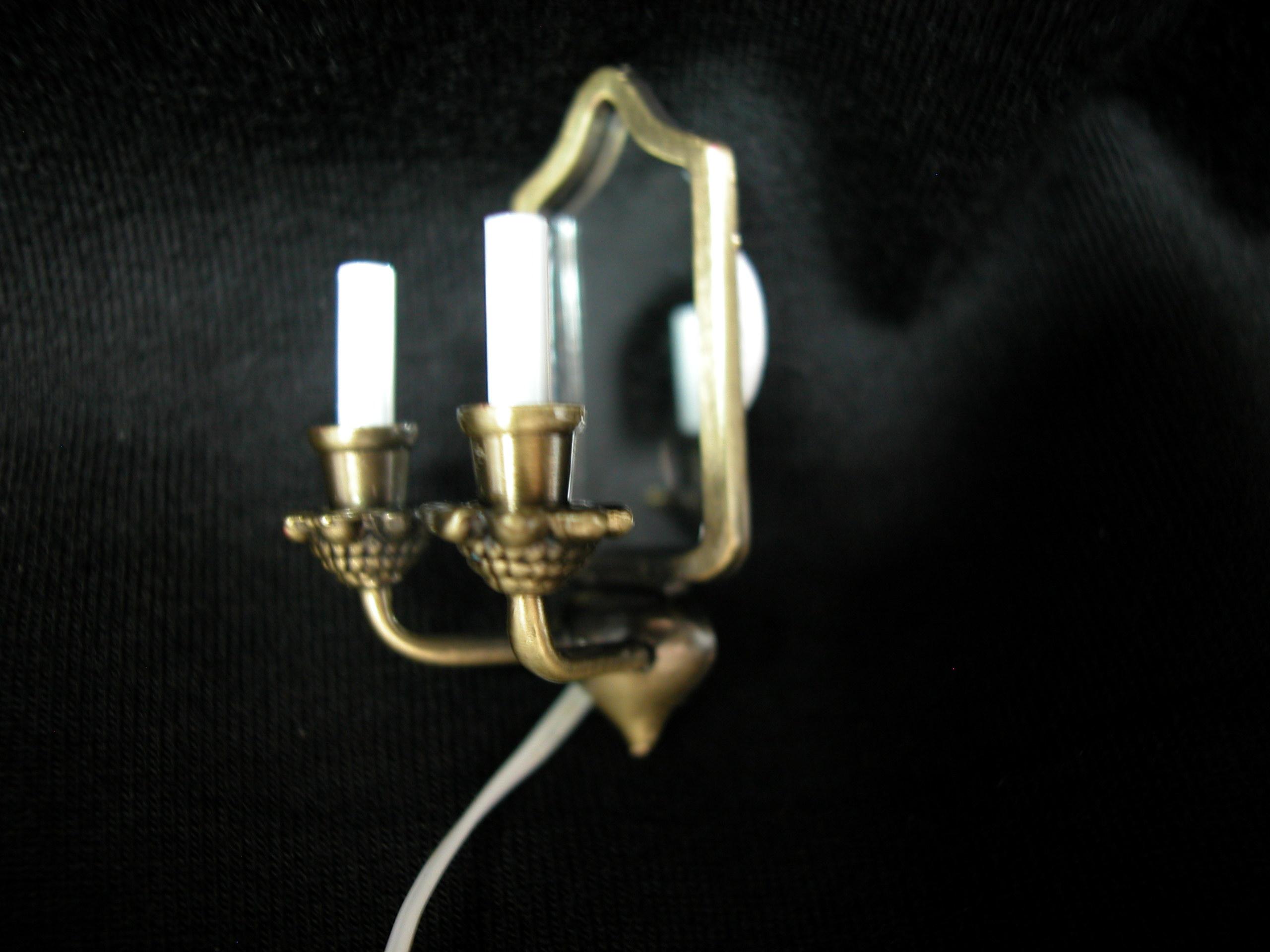 Double Candle Wall Lights : Heidi Ott Dollhouse Miniature 1:12 Scale Lights Double Candle Wall Lamp #YL2089