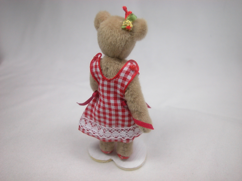 "World of Miniature Bears 3.25/"" Plush Bear Debbie #5050 Collectible Bear"