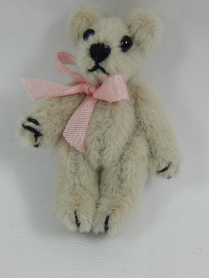 "World of Miniature Bears 1.25"" Plush Bear Beige #110 Collectible Miniature"