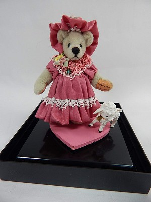 "World of Miniature Bears 3""/1.25"" Cashmere Bear Mary'n'Lamb #1208 Collectible Miniature"