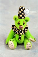 "World of Miniature Bears 2.5"" Plush Bear Checkers-Green #1036 Collectible Miniature"