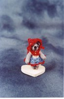 "World of Miniature Bears 1"" Ultra Suede Bear Tessie #1109 Collectible Miniature"