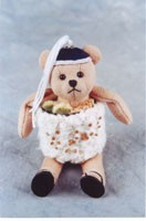 "World of Miniature Bears 4"" Suede Bear Spicy Roll #1144 Collectible Miniature"