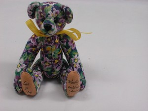"World of Miniature Bears 3"" Cotton Fabric Pin Bear #490-6 Collectible Miniature"