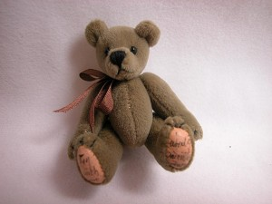"World of Miniature Bears 2.5"" Made by Hand #315 Med Tan"