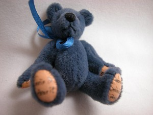 "World of Miniature Bears 2.5"" Made by Hand #318 Navy"