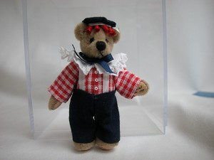"World of Miniature Bears 2.75"" Plush Bear George #642 Miniature Collectible"