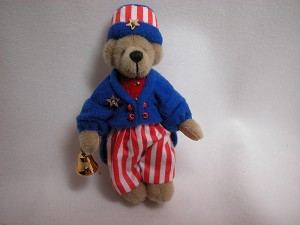 "World of Miniature Bears 3.5"" Plush Bear Uncle Sam #681 Collectible Miniature"