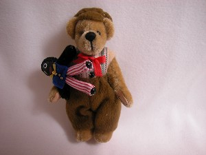 "World of Miniature Bears 3"" Cashmere Bear FRED #682 Closeout"