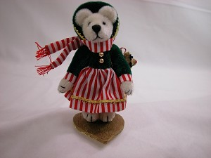 "World of Miniature Bears 2.75"" Plush Bear Carol #713 Collectible Miniature"