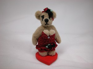 "World of Miniature Bears 2"" Cashmere Bear Dolly #724 Collectible Miniature"