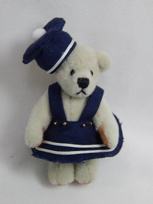 "World of Miniature Bears 2.5"" Cashmere Bear Dana #734 Collectible Miniature B..."