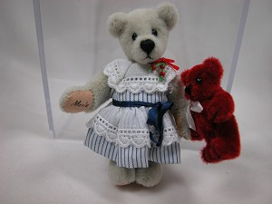 "World of Miniature Bears 2.75"" Plush Bear Marie #738 Collectible Miniature"