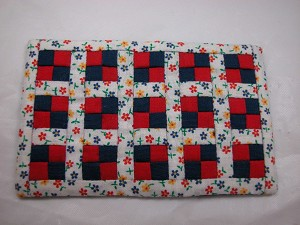 "World of Miniature Bears 2.75"" x 4.25"" Quilt #753H Collectible Miniature"