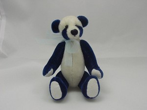 "World of Miniature Bears 4""  Plush Panda Bear Blue #872-BLUE Collectible Miniature"