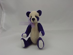 "World of Miniature Bears 4""  Plush Panda Bear Purple #872-PP Collectible Miniature"