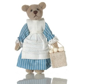 "World of Miniature Bears 3"" Cashmere Bear Lizzie #5048 Collectible Miniature"
