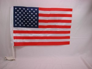 "USA Car Window Flag World Cup Championship 12"" x 17"" #D Defective Sale"