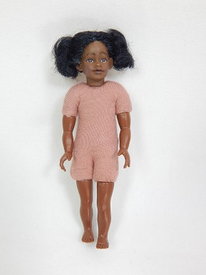 Heidi Ott Dollhouse Miniature 1:12 Scale Girl Child Doll Body With Wig 4 inches #XKK08