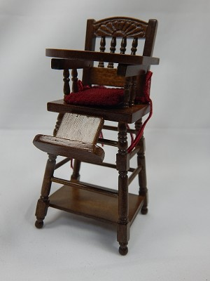 Heidi Ott 1:12 Scale Dollhouse Miniature Furniture High Chair #XY107W
