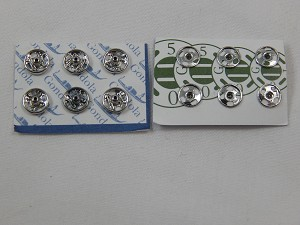 Heidi Ott Dollhouse Miniature 1:12 Scale Accessory Snap Fasteners (Silver) 5mm #XZ723S