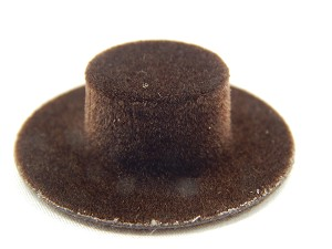 Heidi Ott Dollhouse Miniature 1:12 Scale Kid's Hat Brown #XZ779BR