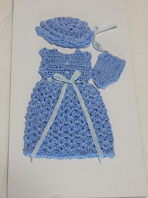 Heidi Ott Dollhouse Miniature 1:12 Scale Child's Clothes Sweater Outfit  #XZ997-BL
