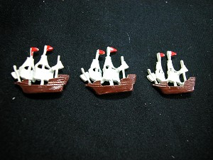 "Dollhouse Miniature 1: 12 Scale 3 pcs x 0.75"" Boat Special #Z155"