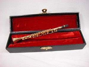 "Barbie Miniature Music 1:6 Scale w/Case 6"" Clarinet #MU-Z224"