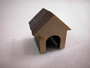 "Dollhouse Miniature 0.5"" Dog Pet House #Z234"