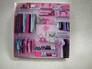 "Dollhouse Miniature 1.75""x1.75"" Girl's Closet Unit #Z297K"