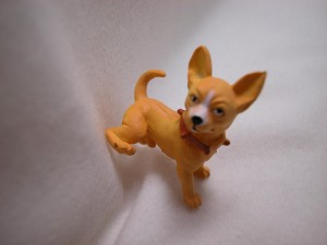 "Dollhouse Miniature 1""X1"" Light Brown Chihuahua Puppy Dog #Z416"