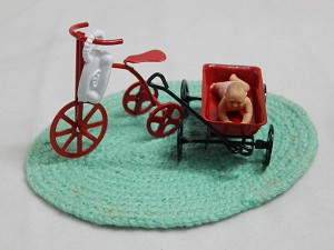 Dollhouse Miniature Scale Girl's Bike & Toys Set #Z86A