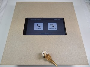 "Smart Entry Systems Wall Mounted Tablet Enclosure - 7"" Lenovo Tab3"