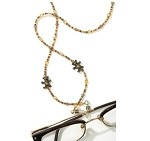 Brown Crystal Eyeglass Holder