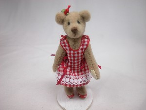 "World of Miniature Bears 3.25"" Plush Bear Debbie #5050 Collectible Miniature"