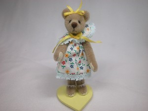 "World of Miniature Bears 3.25"" Plush Bear Molly #5051 Collectible Miniature"