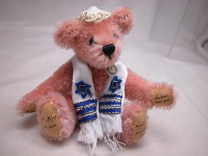 "World of Miniature Bears 3"" Mohair Bear MazelTov #989P Collectible Miniature"