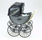 Heidi Ott Accessorie Antique Pram (Charcoal)