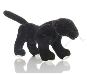 "World of Miniature Bears 3.5""x2"" Velvet Panther Black #5781BK Collectible Min..."
