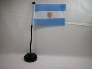 "ARGENTINA 4""x6"" Hand Held or Table Top International Flag"