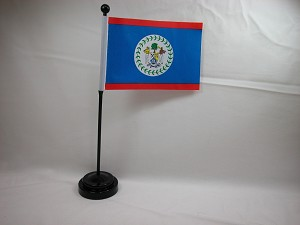 "BELIZE 4""x6"" Hand Held or Table Top International Flag"