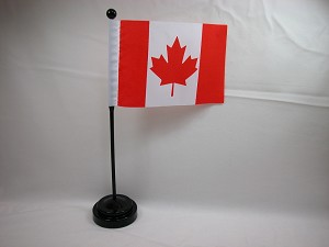 "CANADA 4""x6"" Hand Held or Table Top International Flag"