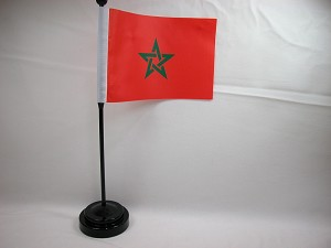 "MOROCCO 4""x6"" Hand Held or Table Top International Flag"