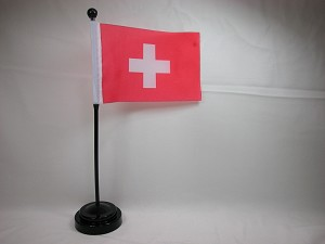"SWITZERLAND 4""x6"" Hand Held or Table Top International Flag"