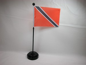 "TRINIDAD 4""x6"" Hand Held or Table Top International Flag"