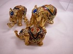 Miniature Crystal Hinged Box For Elephant Lovers Jewelry Box Collectible #Z32...