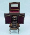 Heidi Ott Dollhouse Miniature 1:12 Scale Jewelry Cabinet #XY605W