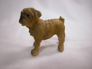 Heidi Ott Dollhouse Miniature Animal 1:12 Scale Puppy Dog Pug #XZ515