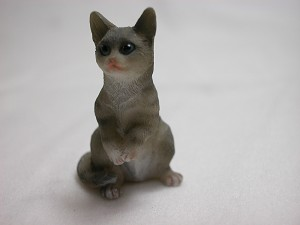 "Heidi Ott Dollhouse Miniature Animal 1:12 Scale 1"" Gray Cat #XZ564GR"